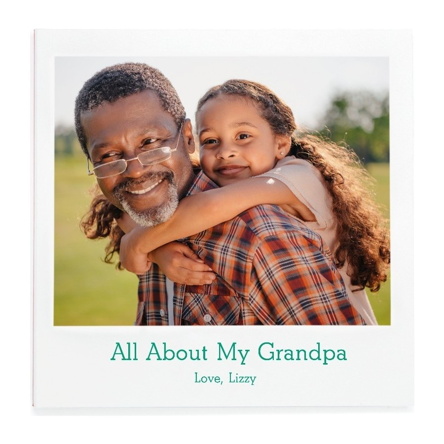 Creative photo gifts for Father's Day: All About My Dad photo book | Pinhole Press