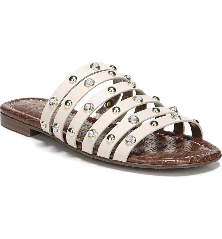 Embellished slide sandals for summer | Sam Edelman studded slides