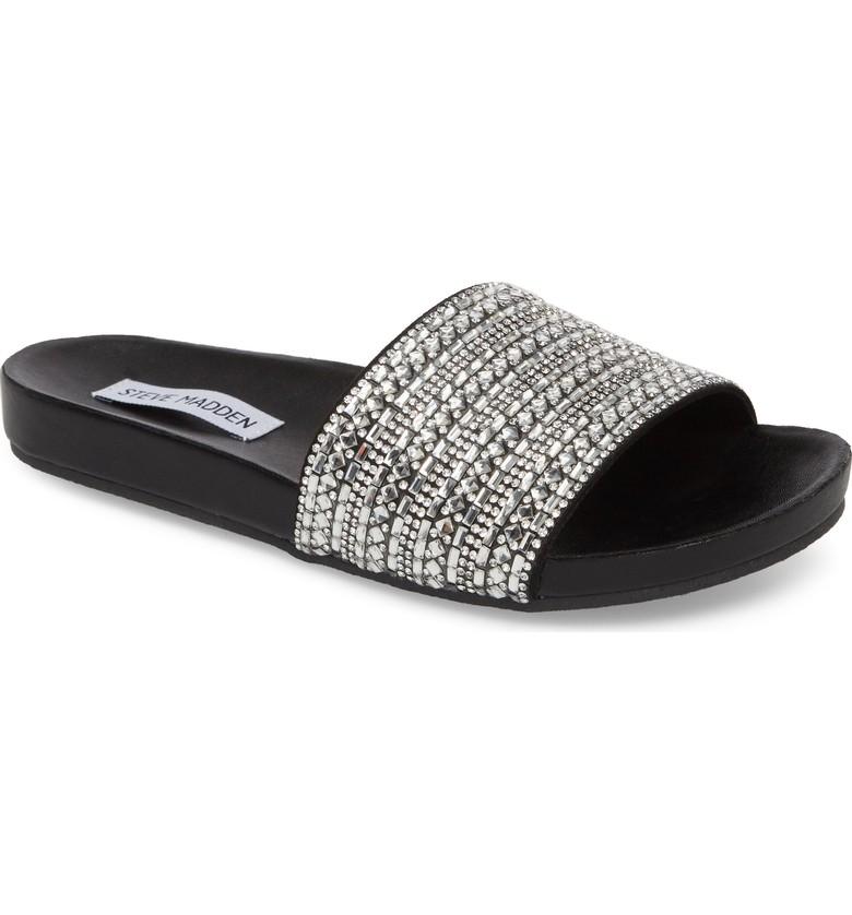 Embellished slide sandals for summer | Steve Madden dazzle slides