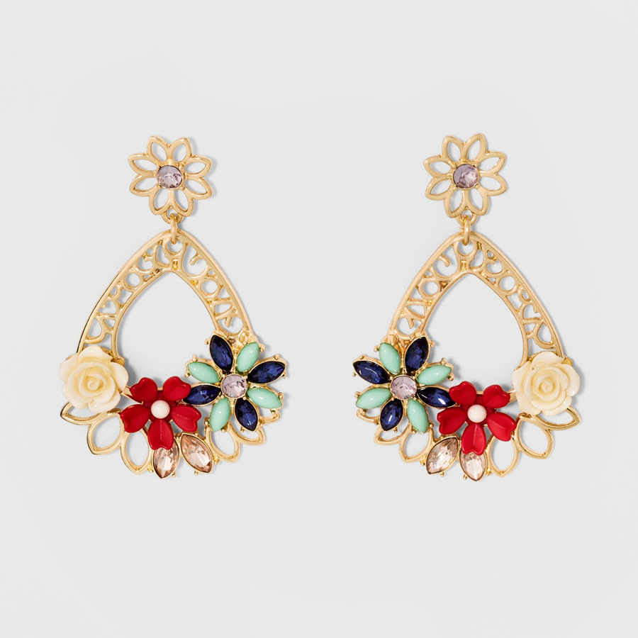 SUGARFIX by BaubleBar at Target: Mixed Media Floral Drop Earrings