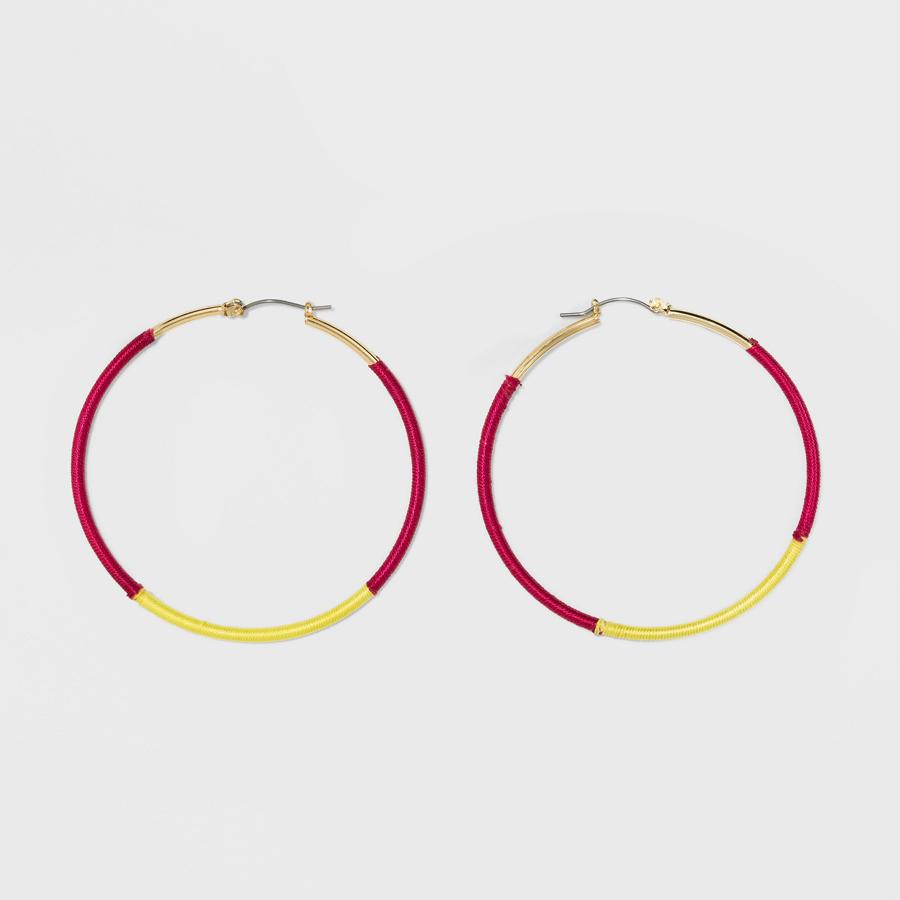 SUGARFIX by BaubleBar at Target: Striped Hoop Earrings