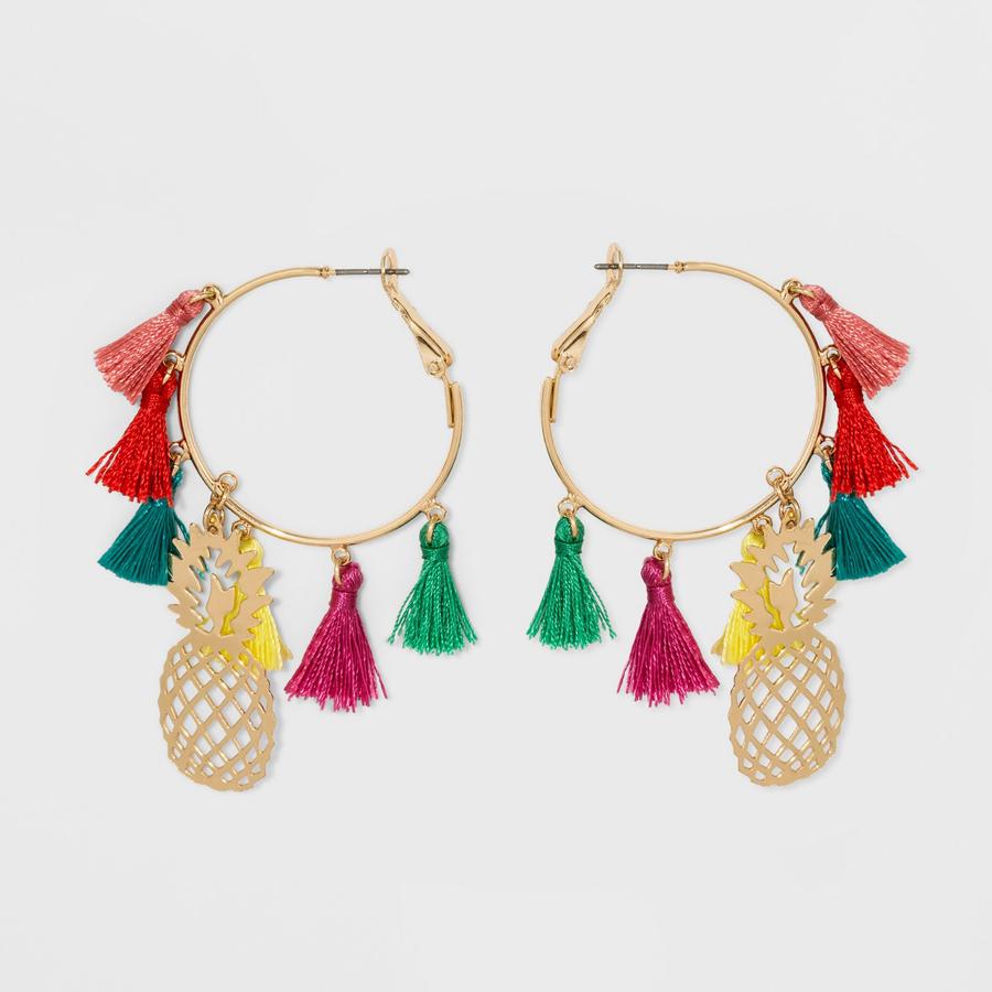 SUGARFIX by BaubleBar at Target: Tassel Hoop Pineapple Earrings