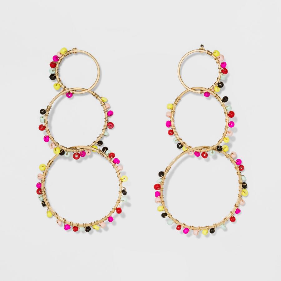 SUGARFIX by BaubleBar at Target: Embellished Triad Hoop Earrings