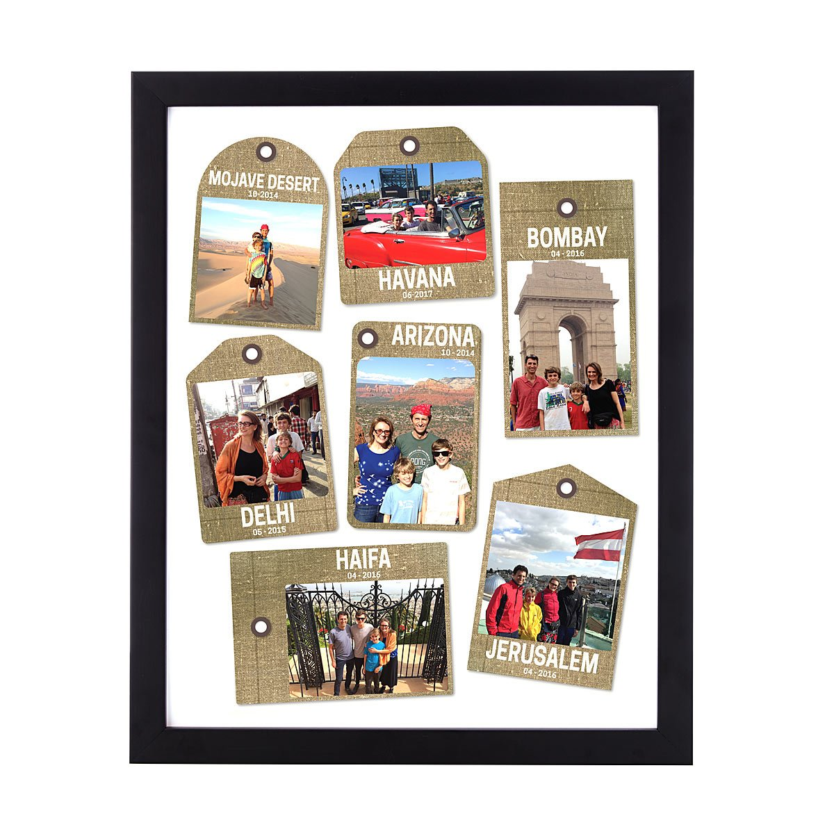 Creative photo gifts for Father's Day: Custom Travel Tag Print| Uncommon Goods