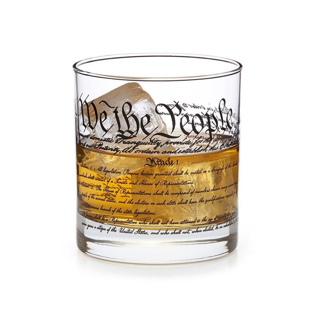 US Constitution Bar Glass | Father's Day gifts under $20
