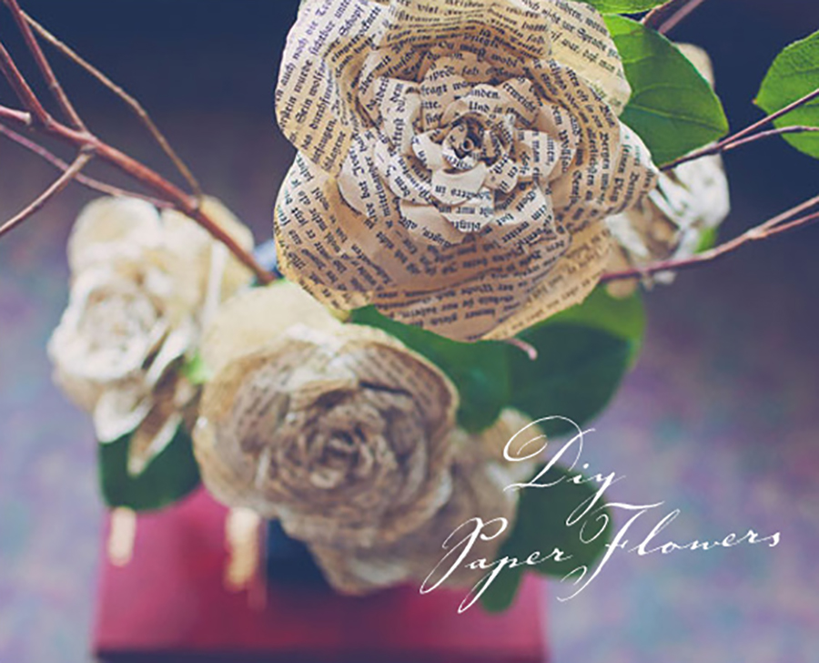 Summer DIY crafts for teens: Storybook Paper Roses from 100 Layer Cake