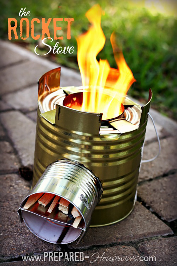 Summer DIY crafts for teens: Rocket Stove from Prepared Housewives.