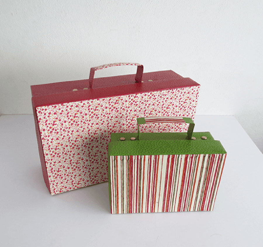 Summer DIY crafts for teens: Cardboard Suitcases from DIY Projects