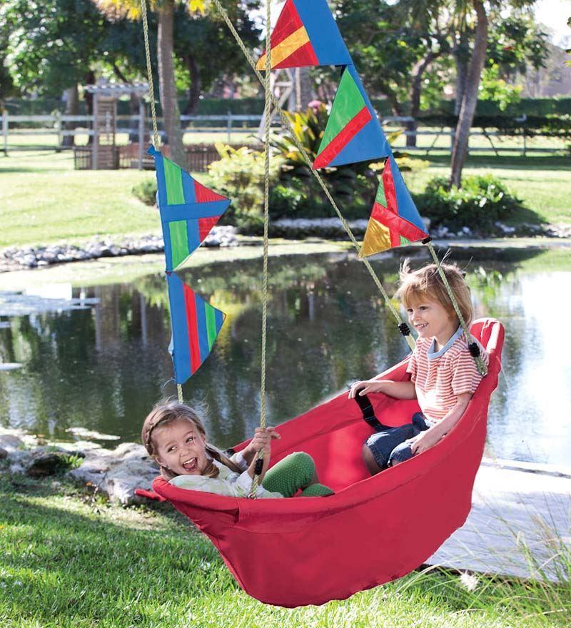 Cool backyard swings for kids: Regatta swing