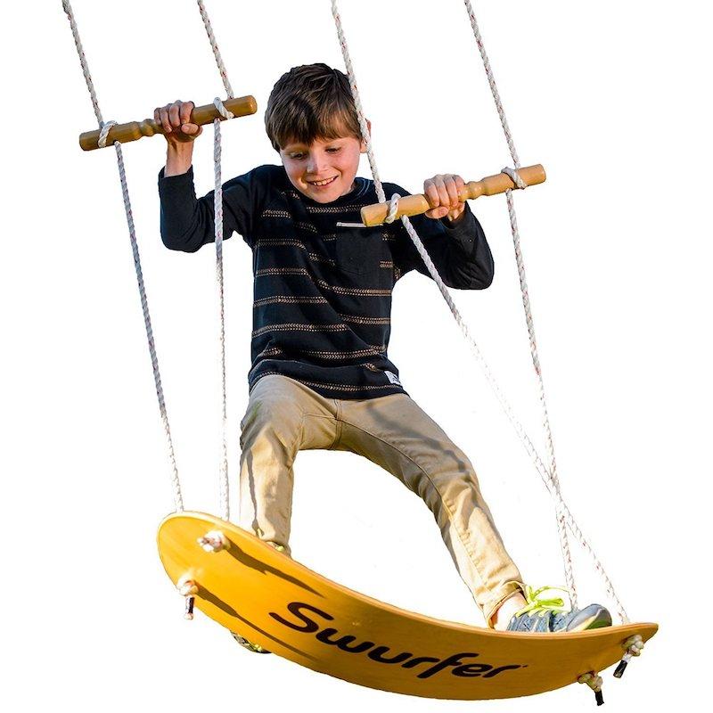 Cool backyard swings for kids: The Swurfer