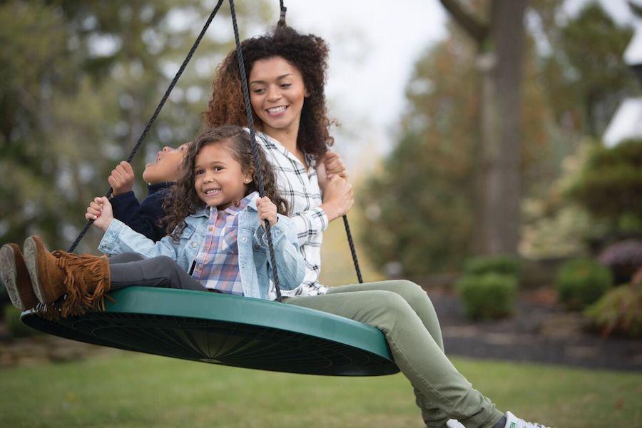 Cool backyard swings for kids: The Super Duper Spinner