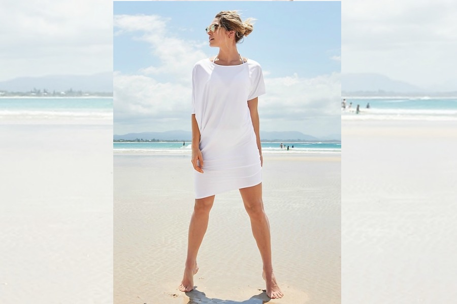 8 stylish beach and pool coverups for moms who aren't just strutting around in teeny bikinis this summer.