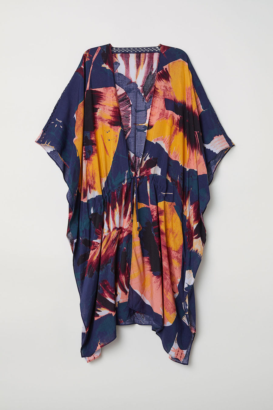 Cool pool coverups for moms: Floral caftan at H&M