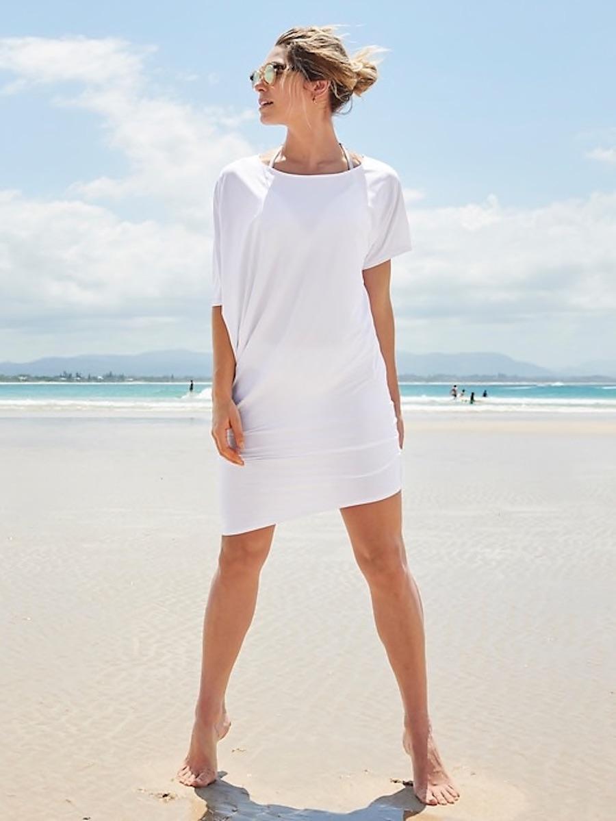Cool pool coverups for moms: Hi-Lo T-shirt dress at Athleta