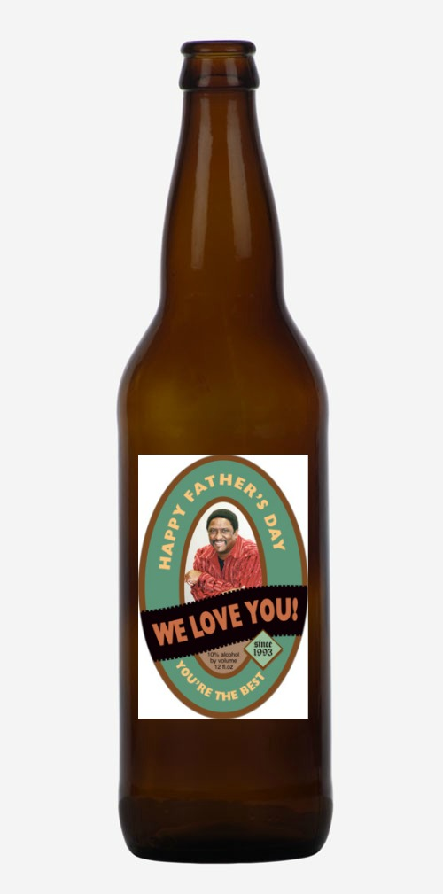 Creative personalized photo gifts for Father's Day: Custom beer labels