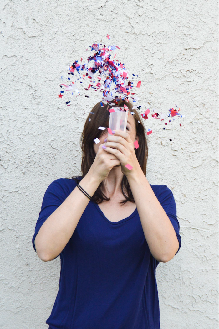 Easy 4th of July crafts for kids: DIY confetti bombs at Club Crafted