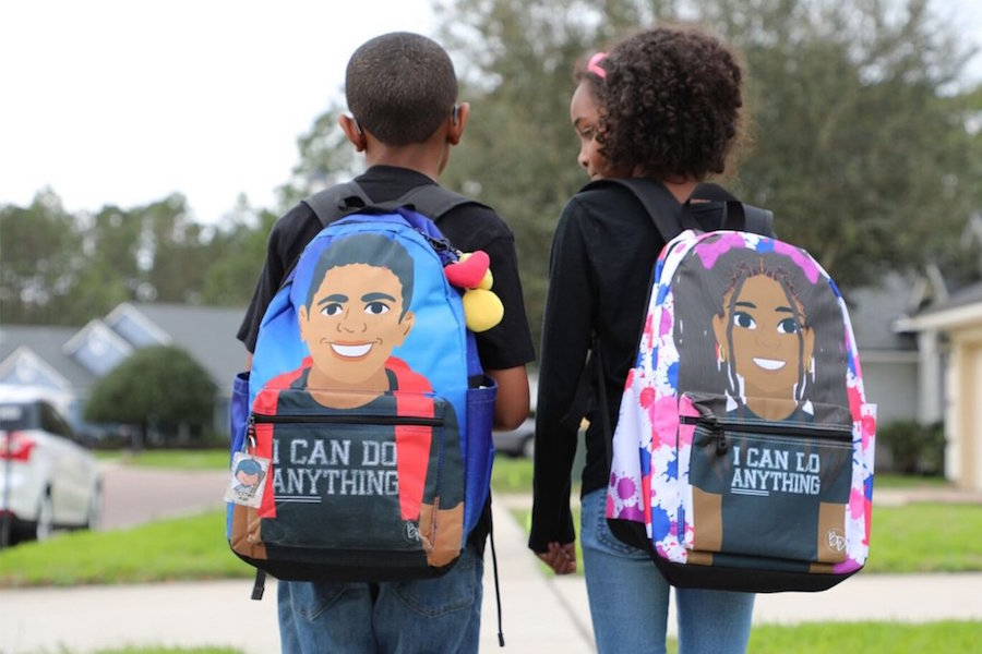 Wonderfully positive backpacks + lunch boxes made just for kids of color.