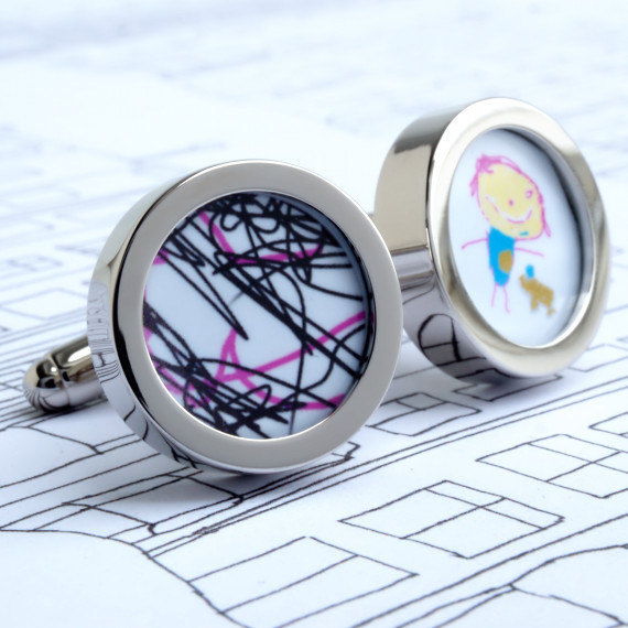 Best Father's Day jewelry and accessories: Custom kids' art cufflinks at Urban Eye
