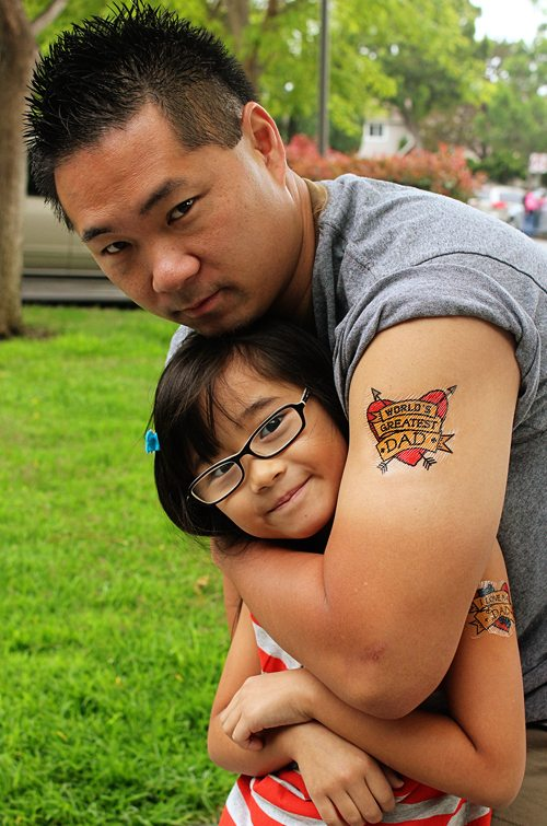Free, fun Father's Day printables: I Love Dad Temporary Tattoos by Alpha Mom