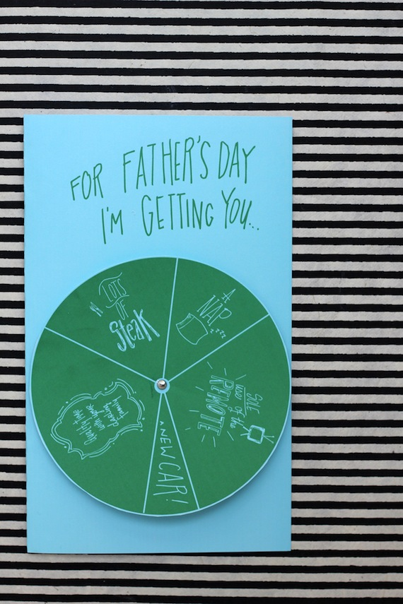 Free, fun Father's Day printables: Spinner Father's Day card by Julep