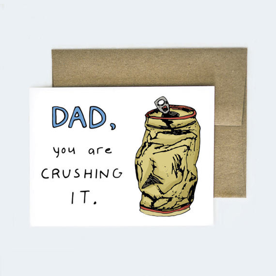Funny Father's Day Cards: Crushing It Card from Aviate Press