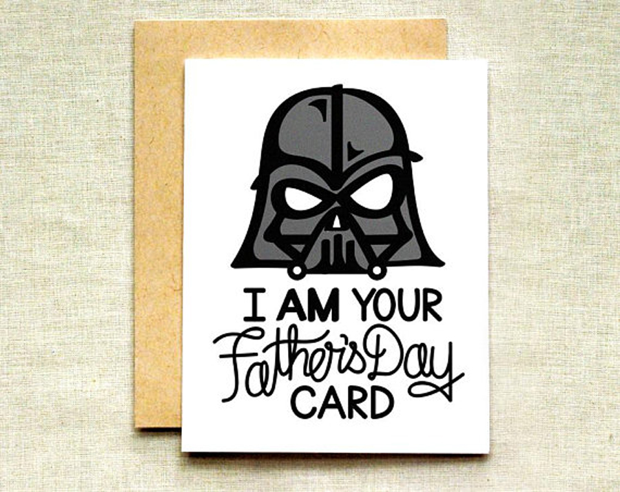Funny Father's Day Cards: Darth Vader Card from Raven and Unicorn