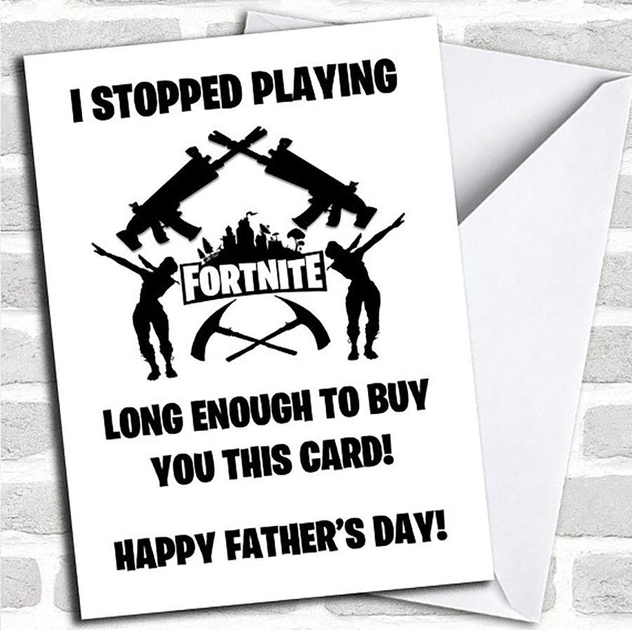 Funny Father's Day Cards: Stopped Playing Fortnite Card from Honeymoon Print