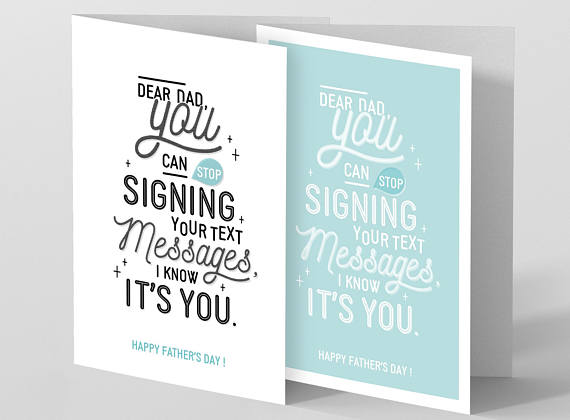 Funny Father's Day Cards: Stop Signing Your Texts Card from Agathe Papeterie