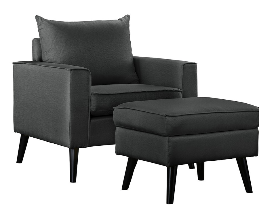 Stylish Father's Day Gifts for His Man Cave: Arm Chair and Ottoman with Storage upgrades his old lounger