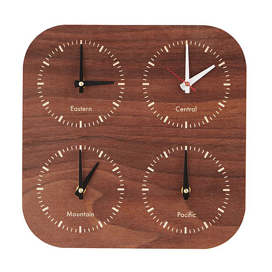 Stylish Father's Day Gifts for His Man Cave: Time Zone Clock