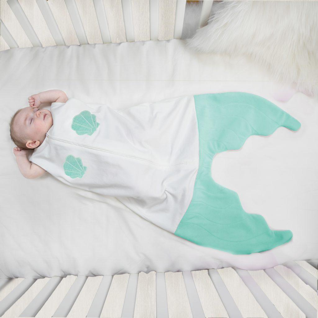Mermaid baby sleep sacks from Blankie Tails | cool mom picks