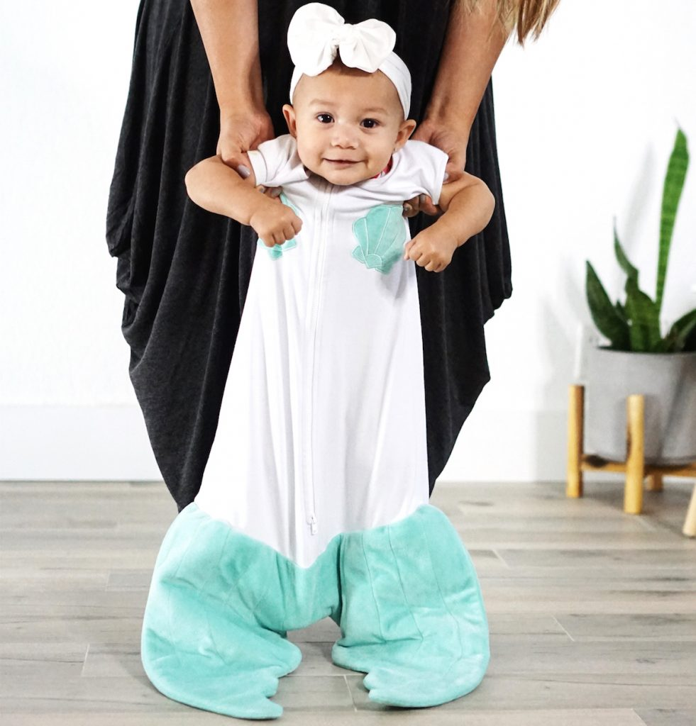 Mermaid tail baby sleep sac by Blankie Tails: Best baby shower gifts under $50