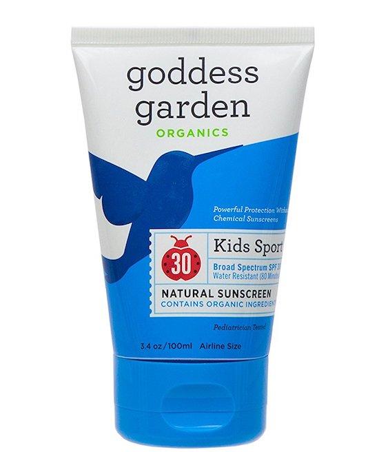 Most affordable safe sunscreens for kids 2018: Goddess Garden Kids Sport