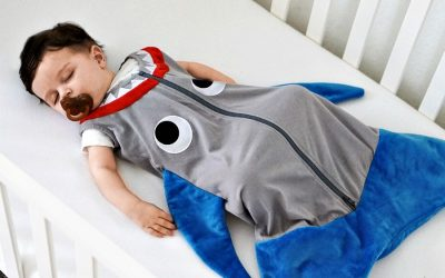 These brand new shark and mermaid baby sleep sacks make the coolest baby shower gift of the year.