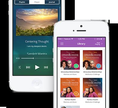The Oprah & Deepak Choprah Meditation app: Highly recommended by children's TV guru Angela Santomero