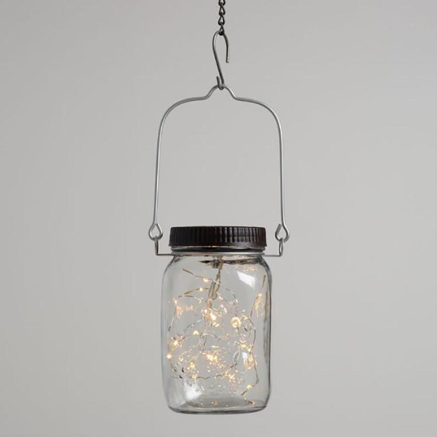 Cool backyard lighting Ideas: Firefly Mason Jar from World Market