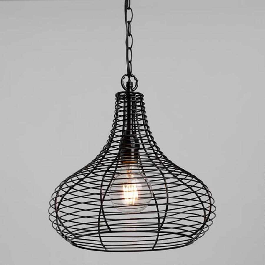 Cool backyard lighting Ideas: Wire Teardrop Solar Pendant from World Market