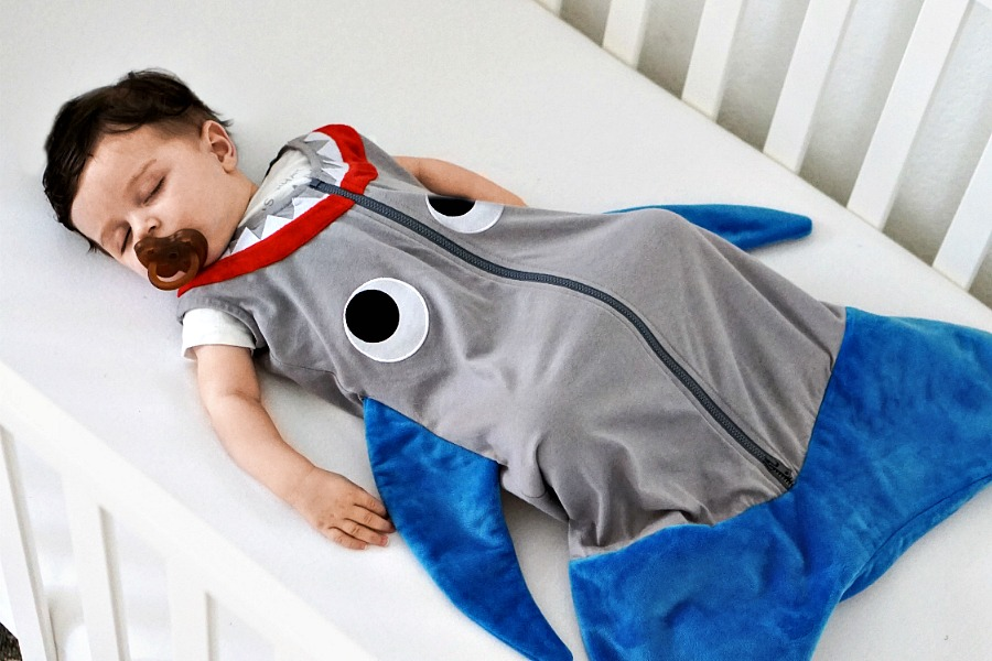 Shark baby sleep sacks by Blankie Tails | Cool Mom Picks