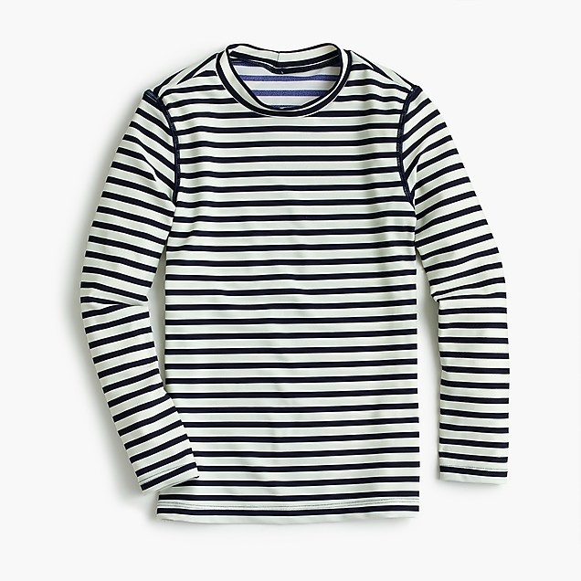 Rash guards with UPF: Striped rash guard | J. Crew
