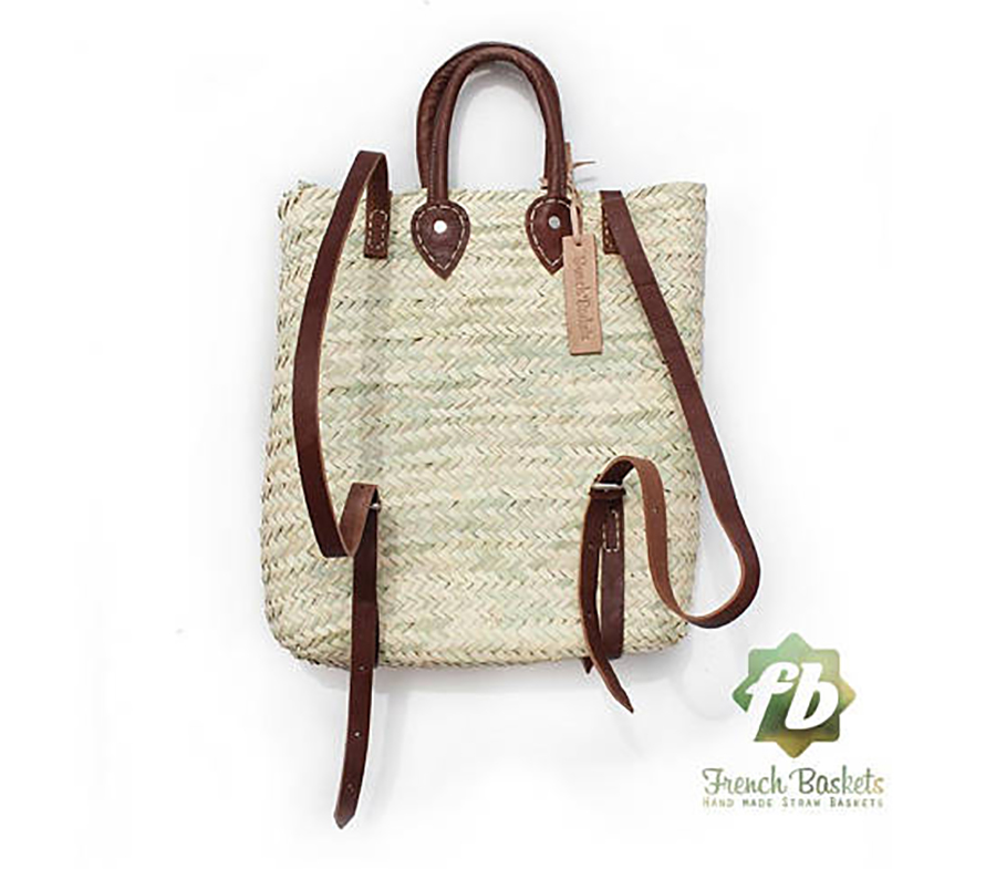 Summer Beach Totes Under $50: Moroccan Basket Backpack from French Baskets on Etsy