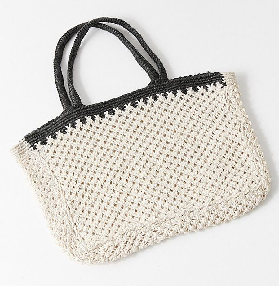Summer Beach Totes Under $50: Woven Straw Tote Bag from Urban Outfitters