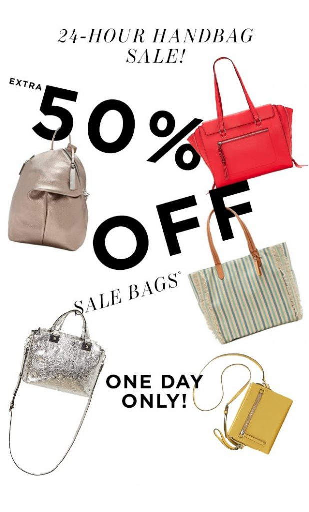 50% off already reduced Vince Camuto handbags, one day only! check out our favorite deals at coolmompicks.com