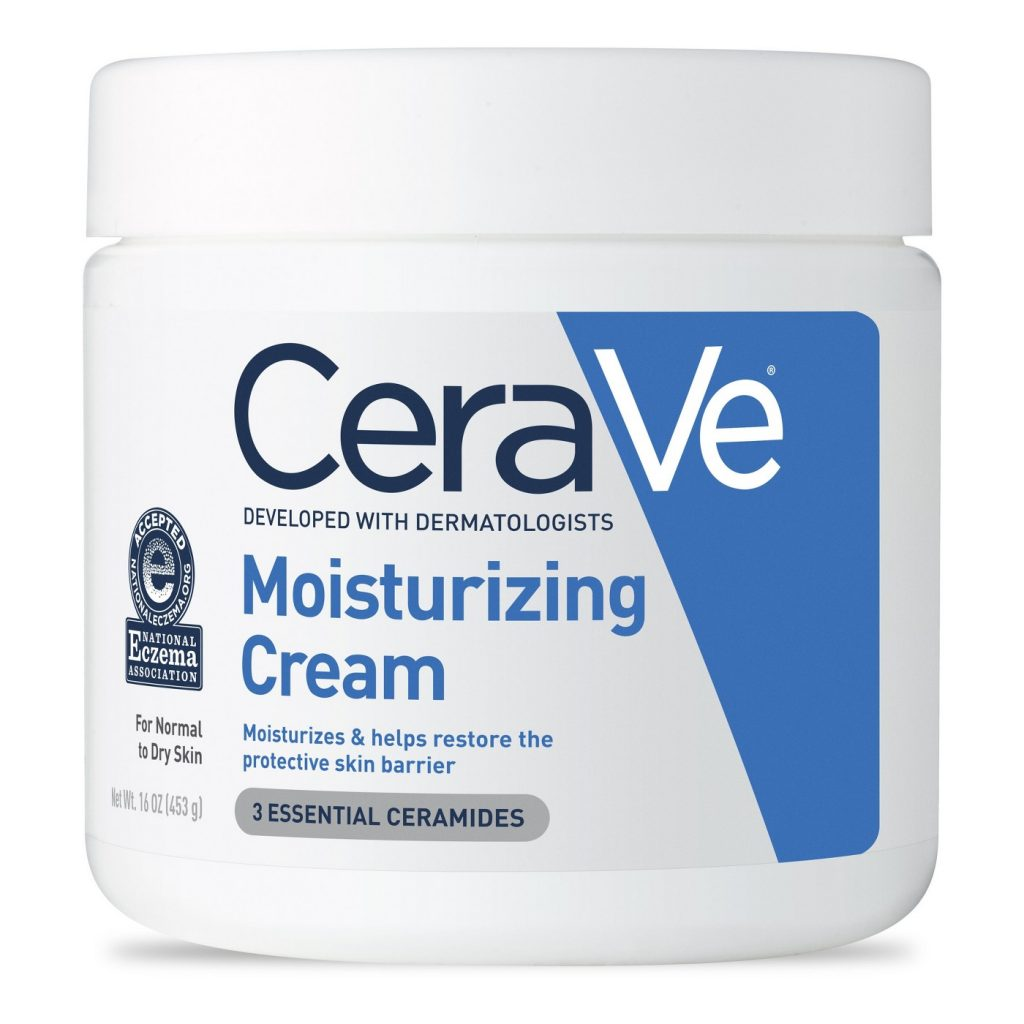 Best drugstore brands for deep summer skin moisturizing: CeraVe moisturizing cream