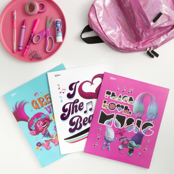 Avery Trolls folders: Fun back to school supplies and accessories under $10 (sponsor)