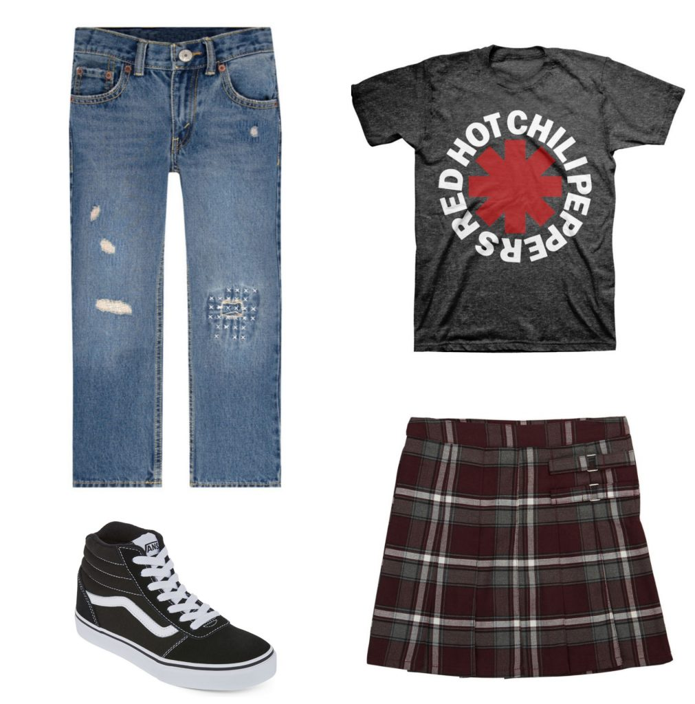 b4ea48a8455 Back to school fashion trends  Retro 90s style from plaids to band tees