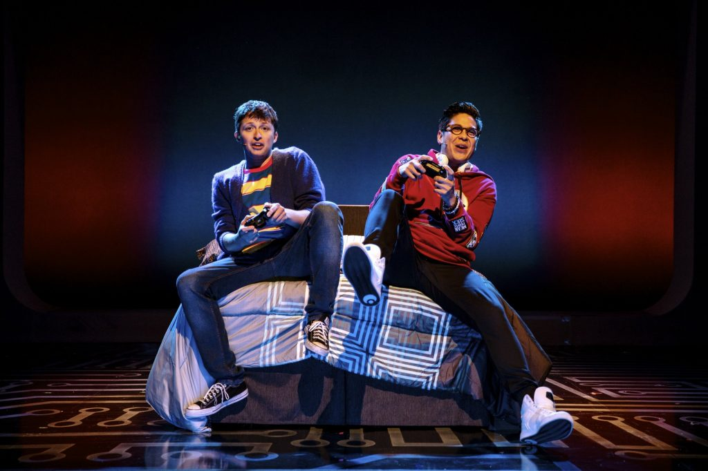 Will Roland and George Salazar in Be More Chill: Two gamer geeks who just want to be popular