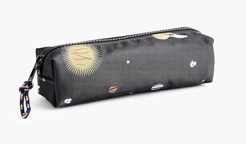 Best discounts on school supplies: J.Crew glow-in-the-dark space pencil case