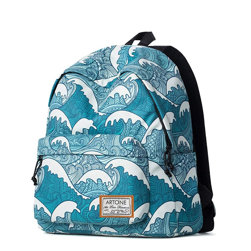 Cool backpacks for tweens and teens: Artone Blue Wave Backpack
