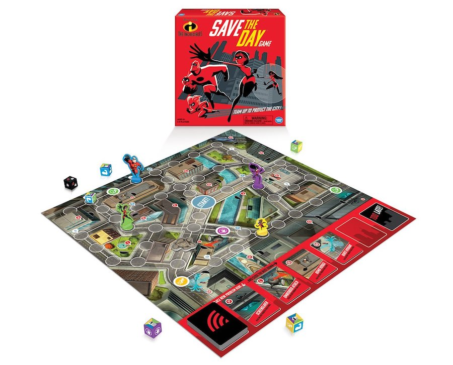 Board games that take 30 minutes or less: The Incredibles Save the Day