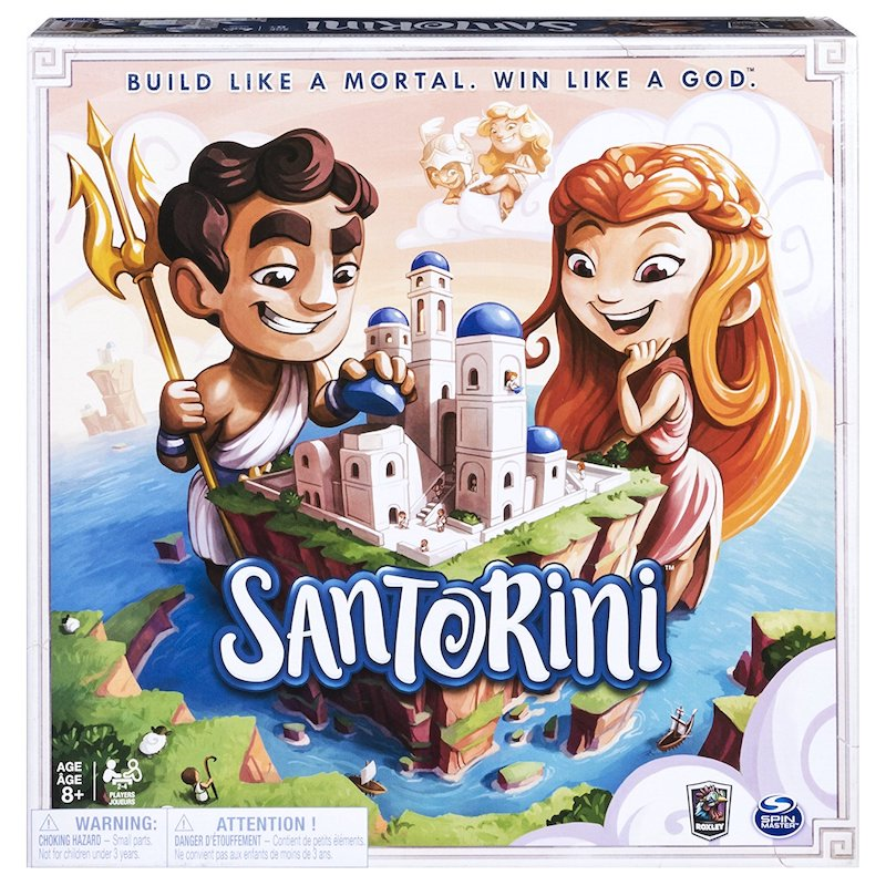 Board games that take 30 minutes or less: Santorini